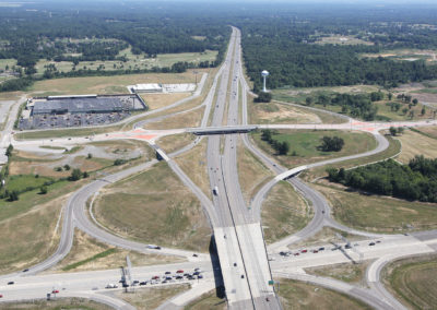 I-57 and Route 13 Intersection Aerial