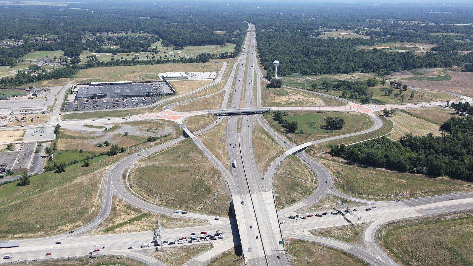 I-57 & IL Route 13 Single-Point Interchange