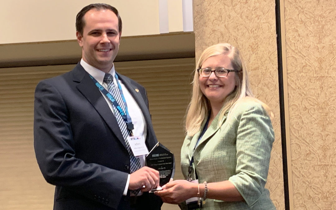 Jeff Large, CMT Project Manager, Receives ISPE's 2019 Young Engineer of the Year