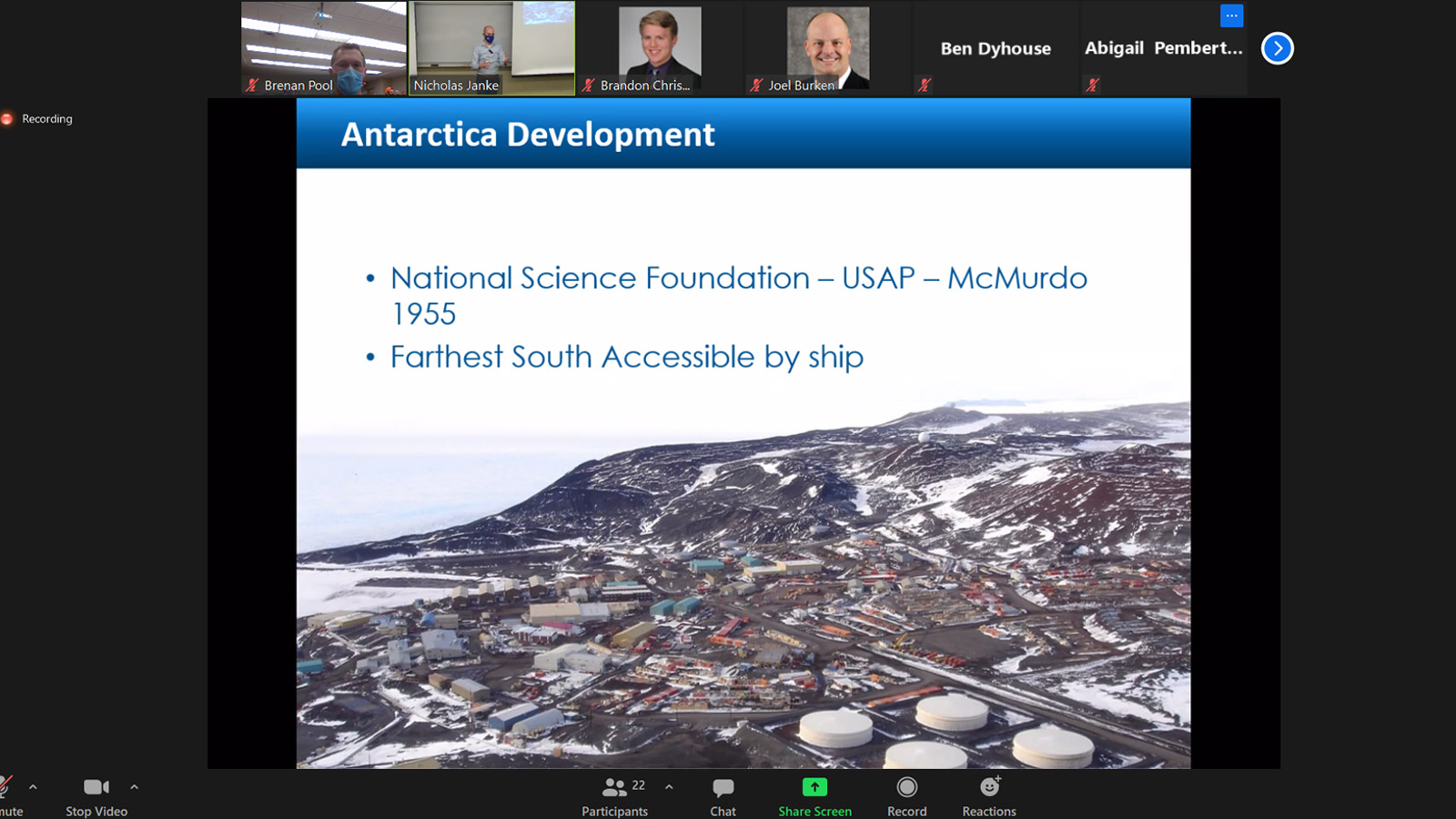 McMurdo Station Presentation at Rolla