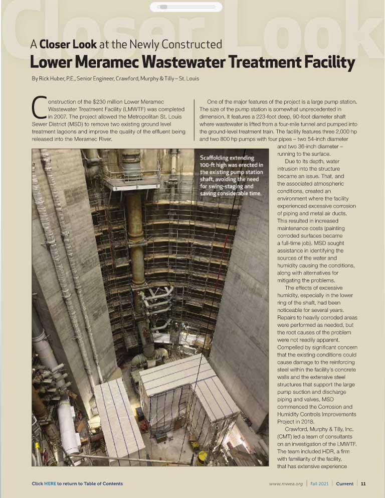 MWEA Current Newsletter, Lower Meramec Wastewater Treatment Facility