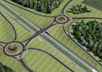 Marshfield, MO I-44 Interchange with Roundabouts