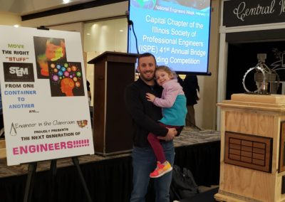 Overbey and Daughter at Bridge Breaking 2019
