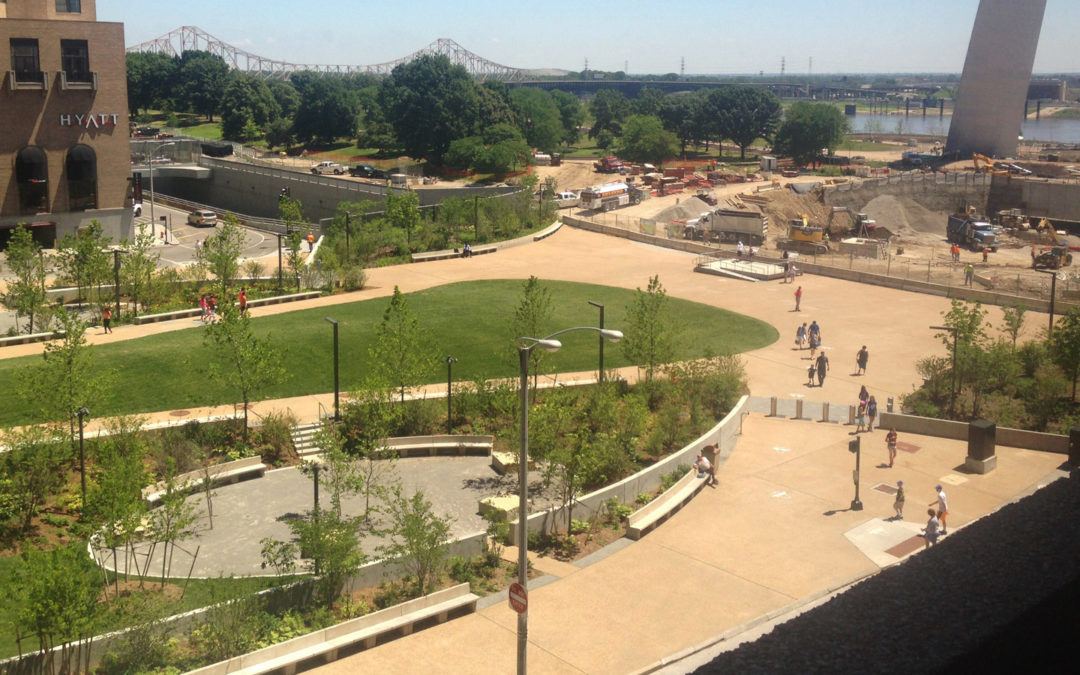 Park Over the Highway Time-Lapse Video of Construction