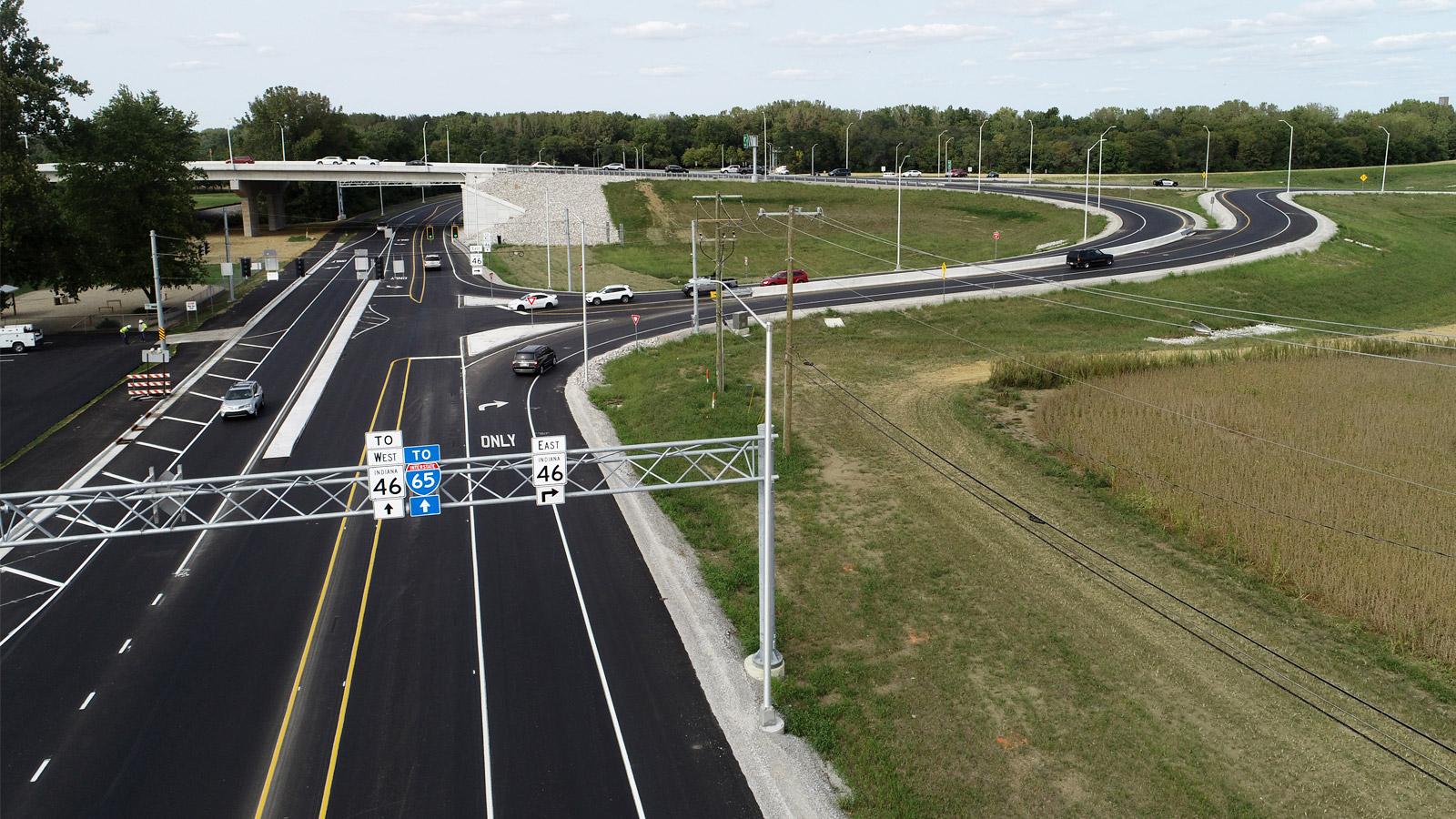 SR 45 and SR 11 Interchange Overpass Straight