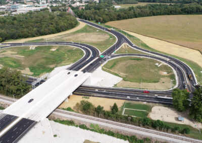 SR 46 and SR 11 Interchange and Railroad Overpass Wins ACEC-IN Honor Award