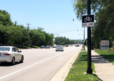Springboro, OH Bike and Shared Lane with Sign