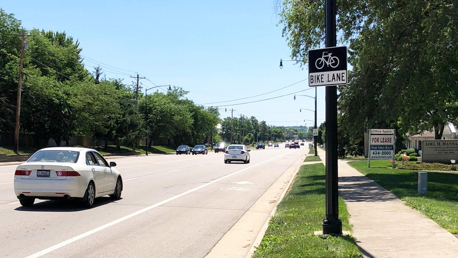Bike Lane/Shared Lane Delineation