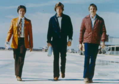 Steve Moulton (L), and Russ Clairmont (Middle), and Mike 1978 Capital Airport