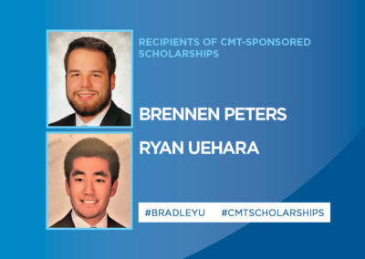 Two Students from Bradley University Receive CMT-Sponsored Scholarships in 2020