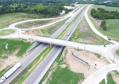 I-70 and Route MM Interchange Aerial