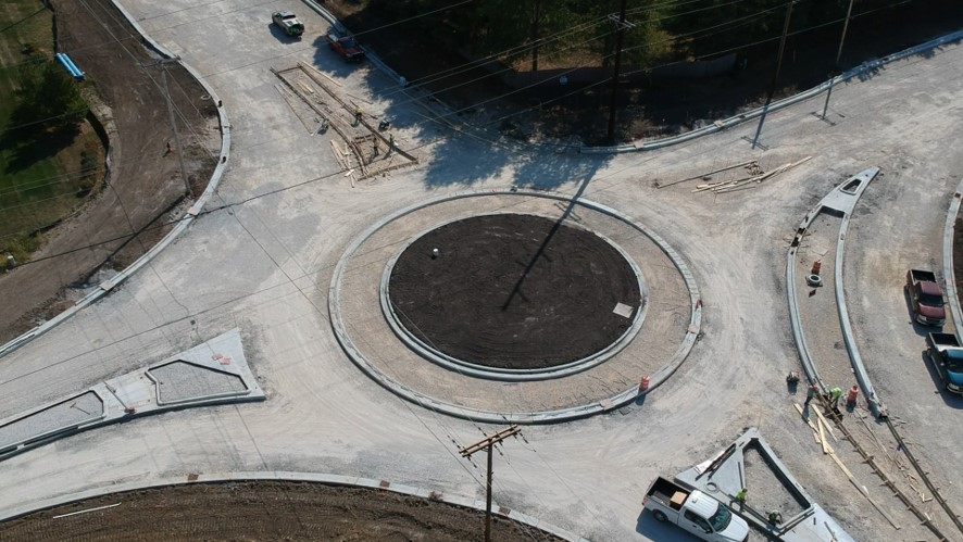 Iles/Archer Elevator Roundabout Under Construction