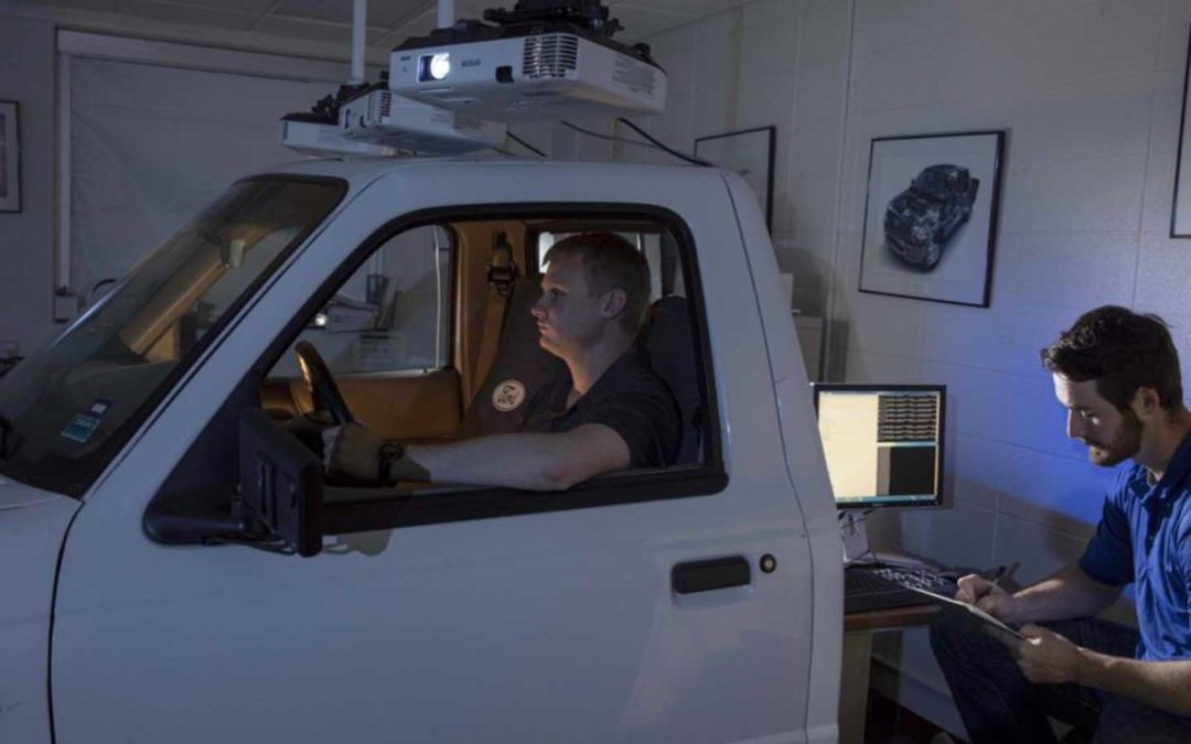 """Students use a driving simulator to test roadway design before construction"" article on News and Events; Missouri S&T Website (news.mst.edu)"